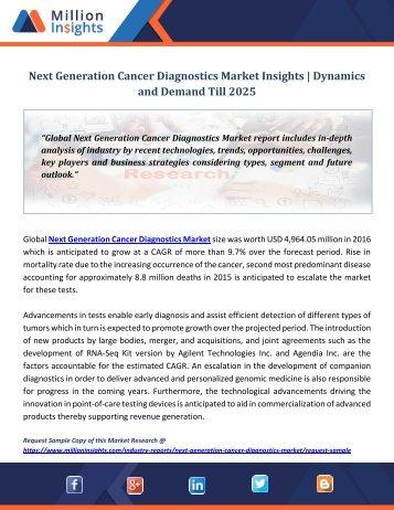 Next Generation Cancer Diagnostics Market Insights  Dynamics and Demand Till 2025