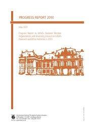 PROGRESS REPORT 2010 - IIASA