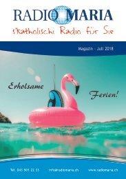 Radio Maria Magazin - Juli 2018
