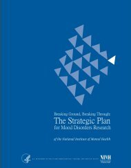 The Strategic Plan for Mood Disorders Research - NIMH - National ...