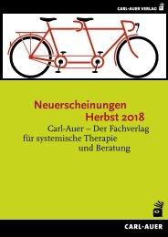 Neuerscheinungen Herbst 2018 – Carl-Auer, der Fachverlag für systemische Therapie und Beratung