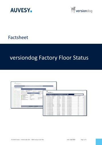 Factsheet - versiondog Factory Floor Status
