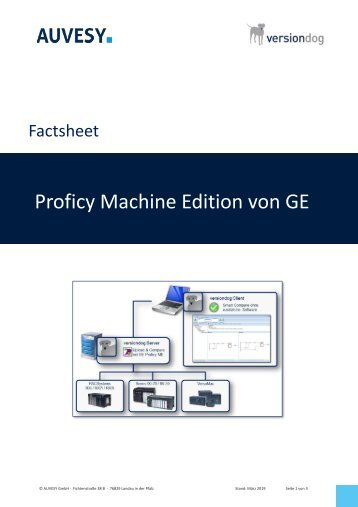 Factsheet - GE Proficy Machine Edition