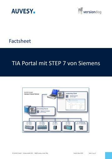 Factsheet - Siemens TIA Portal Step7