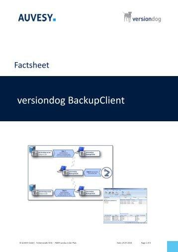 Factsheet - versiondog BackupClient