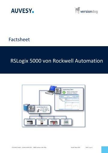 Factsheet - Rockwell Automation RsLogix5000