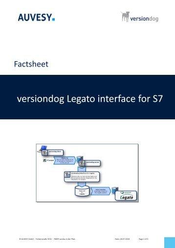 Factsheet - versiondog Legato interface for S7
