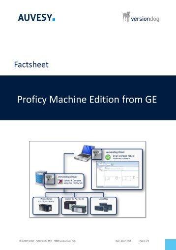 Factsheet - GE Proficy Machine Edition