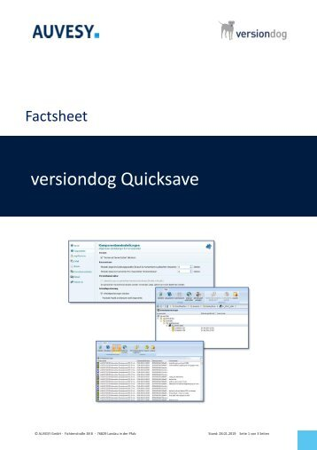 Factsheet - versiondog Quicksave