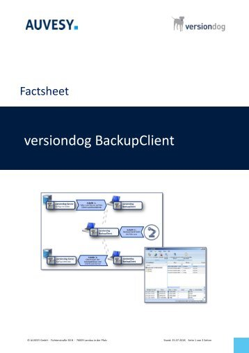 Factsheet - versiondog BackupClient