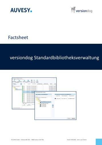 Factsheet - versiondog Standardbibliotheksverwaltung