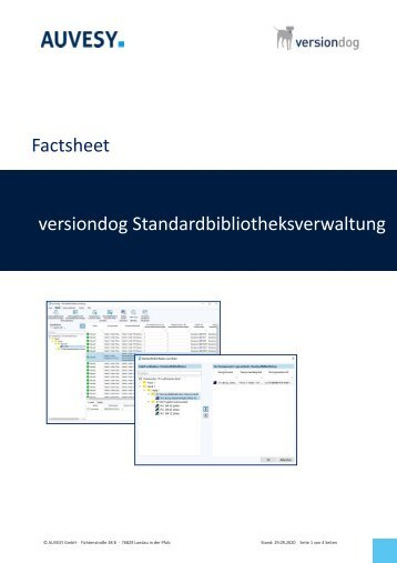 Factsheet - versiondog Standardbibliotheksverwaltung