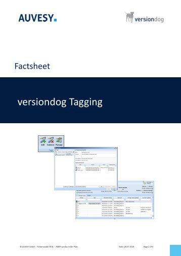 Factsheet - Tagging components in versiondog
