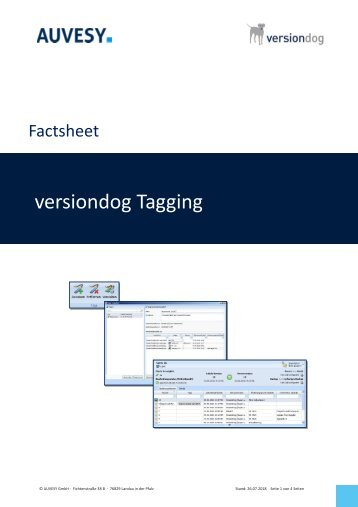 Factsheet - Tagging von Komponenten in versiondog