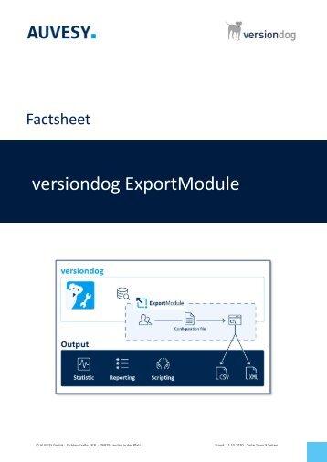 Factsheet - versiondog ExportModule