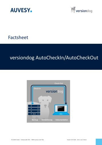 Factsheet - versiondog Auto CheckIn Auto CheckOut