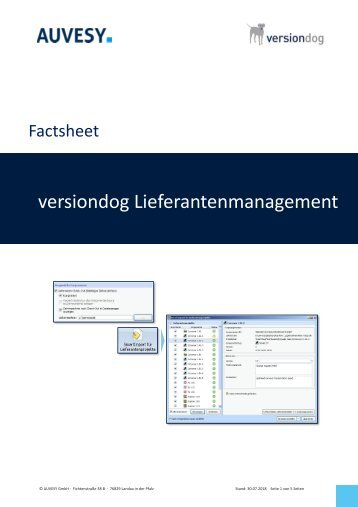 Factsheet - versiondog SupplierManagement
