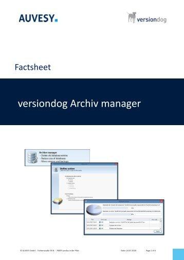 Factsheet - versiondog Archive manager