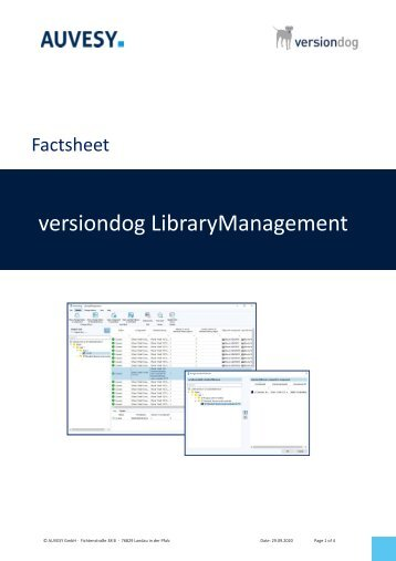 Factsheet - versiondog LibraryManagement