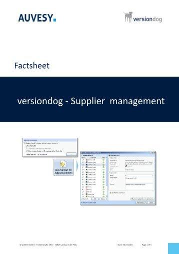 Factsheet - versiondog SupplierManagement