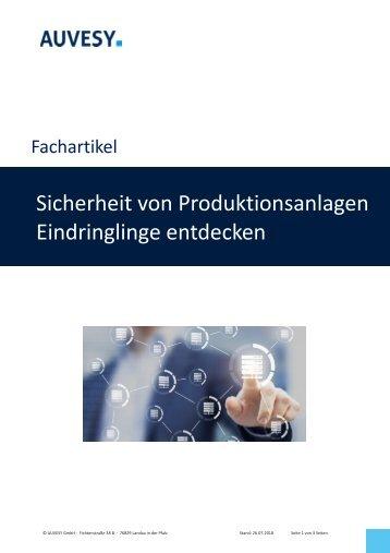 2017-06 Fachartikel - Sicherheit von Produktionsanlagen