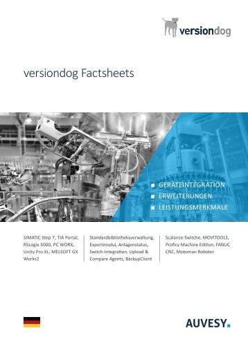 versiondog Factsheets Sammlung