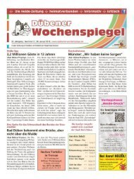 Dübener Wochenspiegel - Ausgabe 02 - 30-01_2013