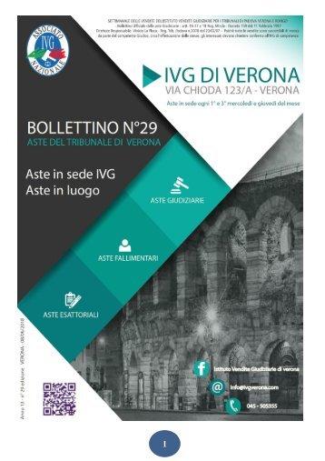 NUOVO Bollettino Mobiliare n  29 edizione Verona gara DAL 14 giugno al 12 LUGLIO 2018 ok