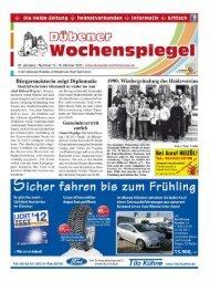 Dübener Wochenspiegel - Ausgabe 19 - 10-10-2012