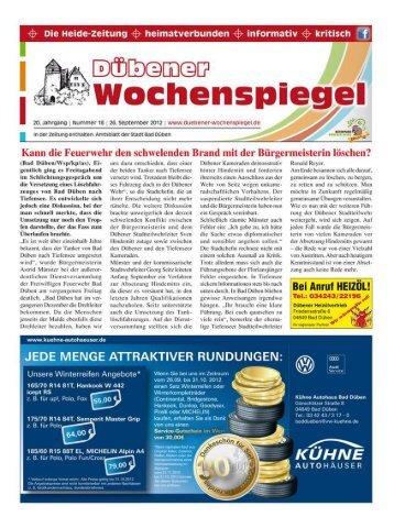 Dübener Wochenspiegel - Ausgabe 18 - 26-09-2012