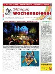 Dübener Wochenspiegel - Ausgabe 17 - 12-09-2012