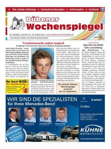 Dübener Wochenspiegel - Ausgabe 16 - 29-08-2012
