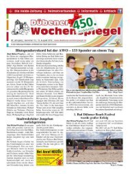 Dübener Wochenspiegel - Ausgabe 15 - 15-08-2012