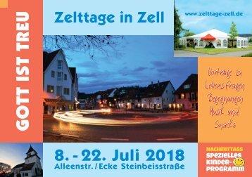 Programmheft Zelttage Zell 2018