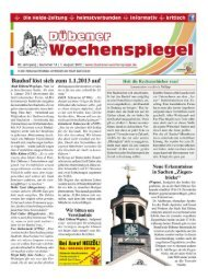 Dübener Wochenspiegel - Ausgabe 14 - 01-08-2012