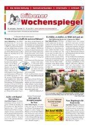 Dübener Wochenspiegel - Ausgabe 13 - 18-07-2012