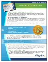 Platinum Low Rate Credit Card - Wright-Patt Credit Union