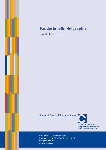 Kinderbibelbibliographie Comenius Institut Evangelische