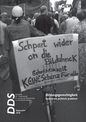 Bildungsgerechtigkeit - GEW Landesverband Bayern
