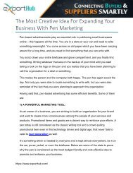 The Most Creative Idea For Expanding Your Business With Pen Marketing
