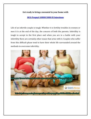 Buy Pregnyl HCG Injections Online to have your own Baby