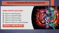 Troubleshoot PDF File Opening Errors ? Dial +1-800-936-8130