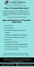 Signs and Symptoms of a Traumatic Brain Injury