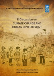 CLIMATE CHANGE AND HUMAN DEVELOPMENT E-Discussion on