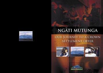 booklet cover.indd - Te Runanga o Ngati Mutunga