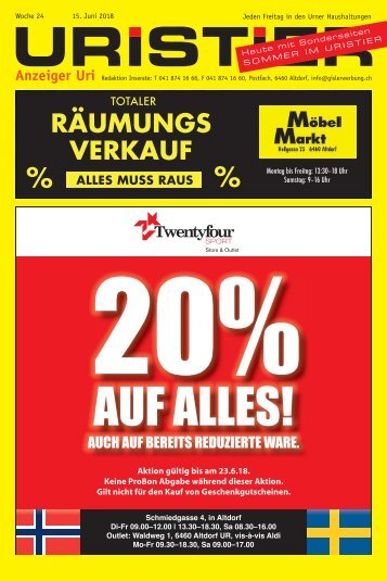 24.2018 Uristier  Der Urner Gratisanzeiger
