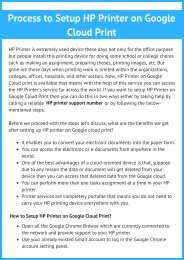 Connect HP Printer with Google Cloud Account