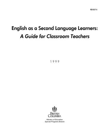 A Guide for Classroom Teachers - Education