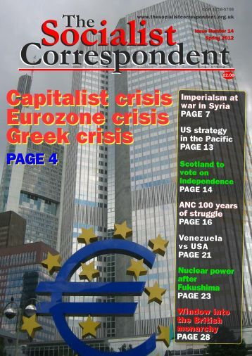 Global Economic Situation Eurozone crisis - The Socialist ...
