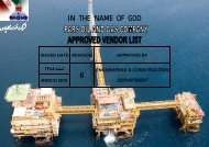pars oil and gas company approved vendors list